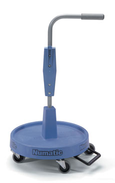 Base with Pedal & Handle Complete for NC-1, 500mm Diameter, 870mm High, Blue