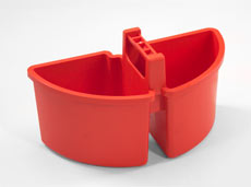 Small Caddy 4-Litre (2 x 2-Litre), Red