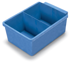 Half Tray (when single Lock Box Used), Blue