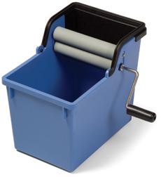 10-litre Roller Pail for Microfibre Cloths, Blue