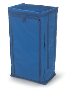 Zipped Waste Bag Coverall, 120-litre/2 x 70-litre, Blue
