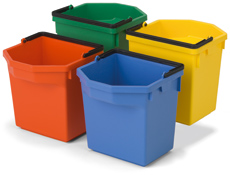 5-litre Tray Pail without Lid, Red