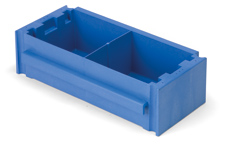 Versaclean Half Tray with Divider, Blue