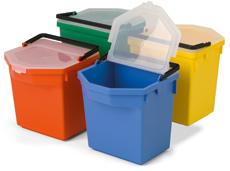 5-litre Tray Pail with Lid, Red