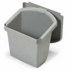 30-Litre Waste Bin with Lid, Grey