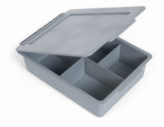 Deep 120mm Full Tray with Divisions + Lid